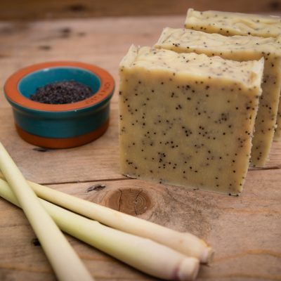 Bean and Boy Lemongrass and Poppyseed Soap