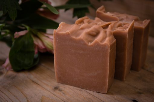 Bean and Boy Rose Geranium and Pink Clay Soap