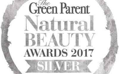 We won! SILVER AWARD: Green Parent Natural Beauty Awards