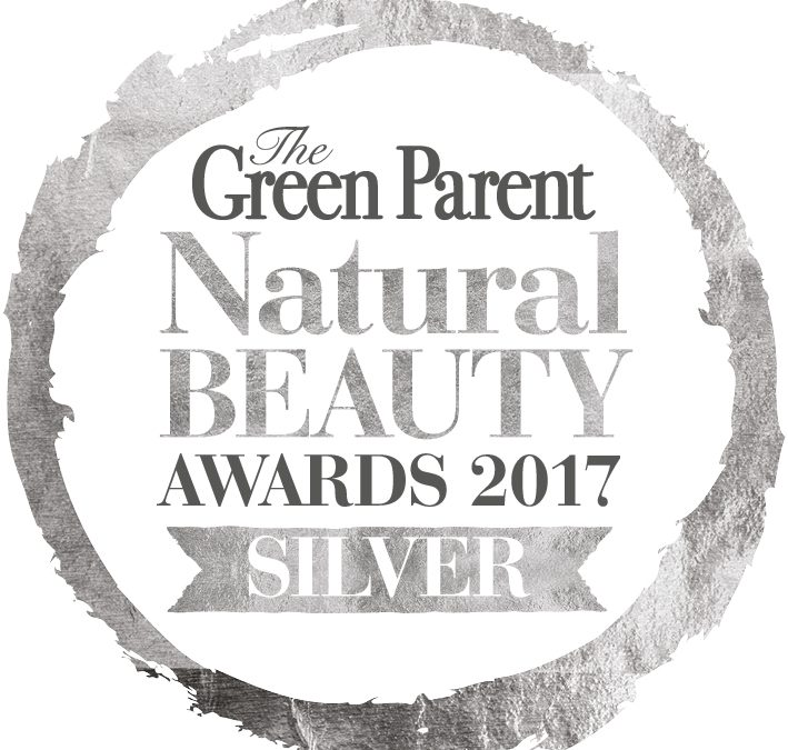 We won! SILVER AWARD: Green Parent Natural Beauty Awards