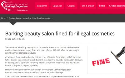Barking Mad: beauty salon fined for illegal cosmetics (and why it's important that you only buy certified products)