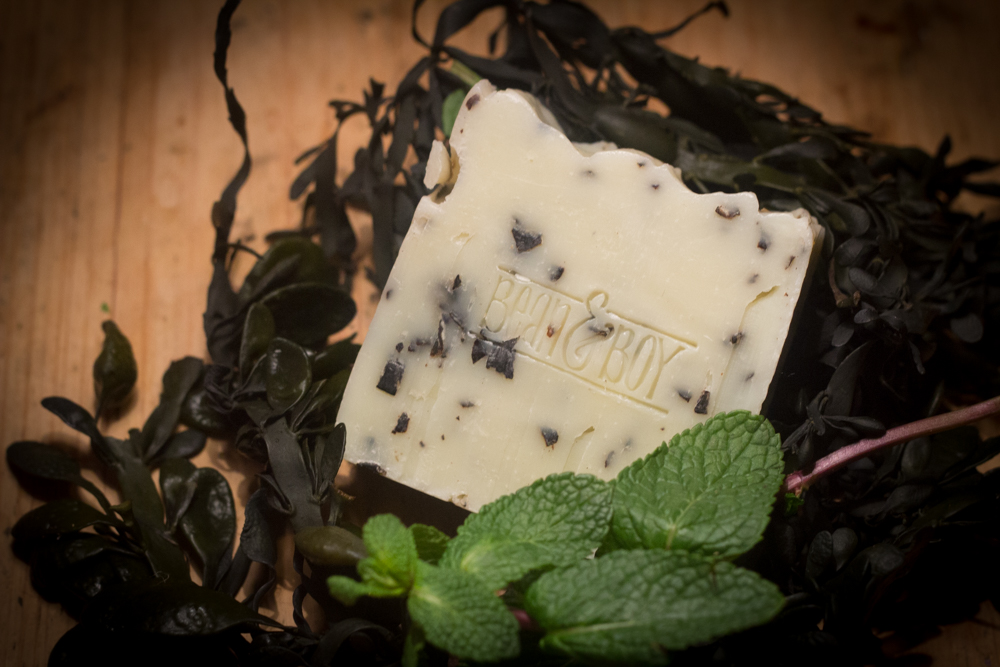 Seaweed and Spearmint Bean and Boy Soap