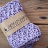 handmade cotton facecloth lavender