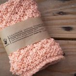 handmade cotton facecloth peach