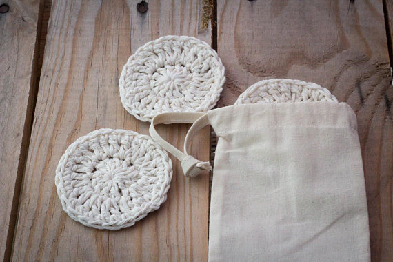 Resuable cotton face scrubbies