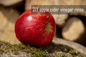 diy apple cider vinegar rinse