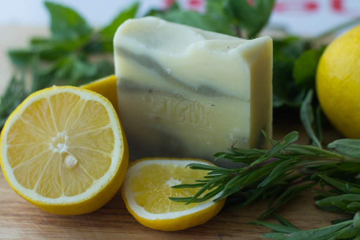 Lemon and Herb Soap