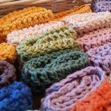 handmade cotton facecloth rainbow 1
