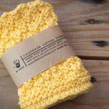 handmade cotton facecloth yellow