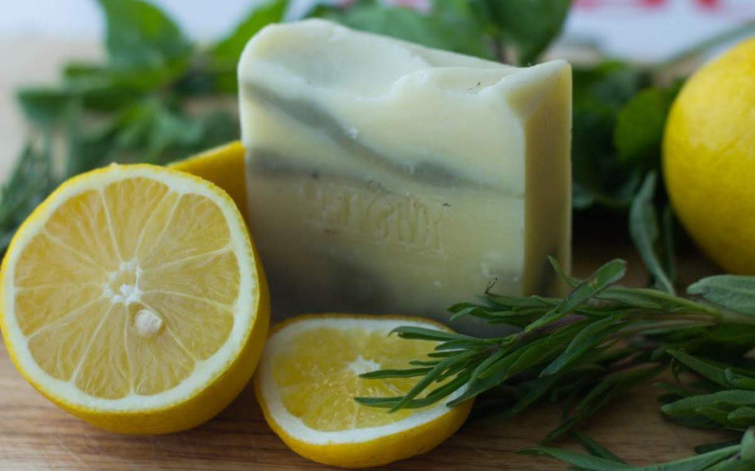 New Soap: LEMON + HERB SOAP